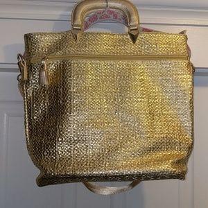 Large Gold Metallic Tote/Bag